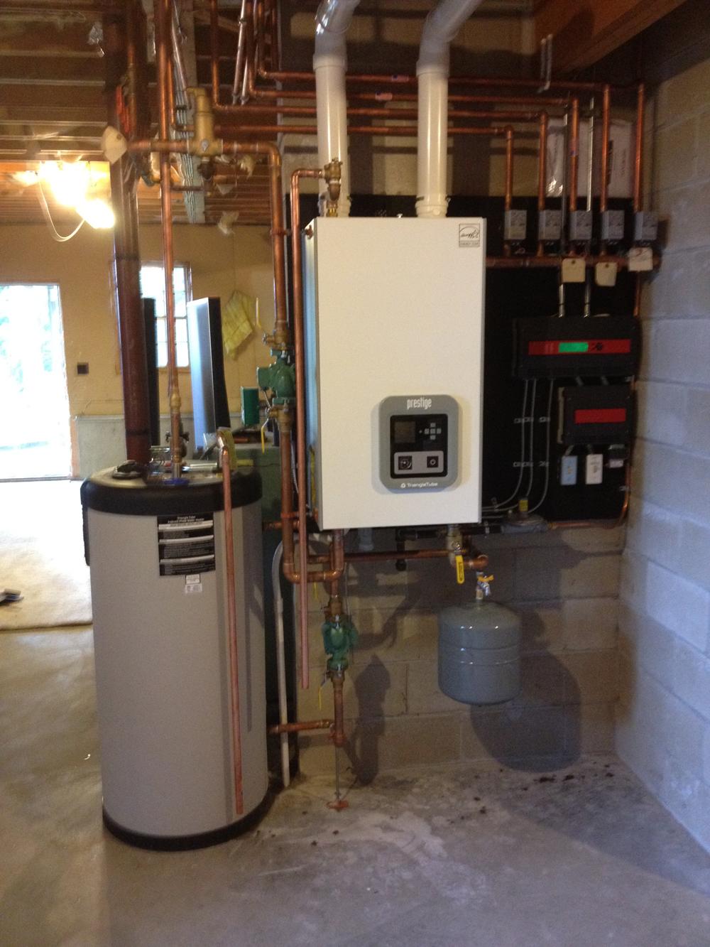 gas-fired Prestige boiler, Harpswell