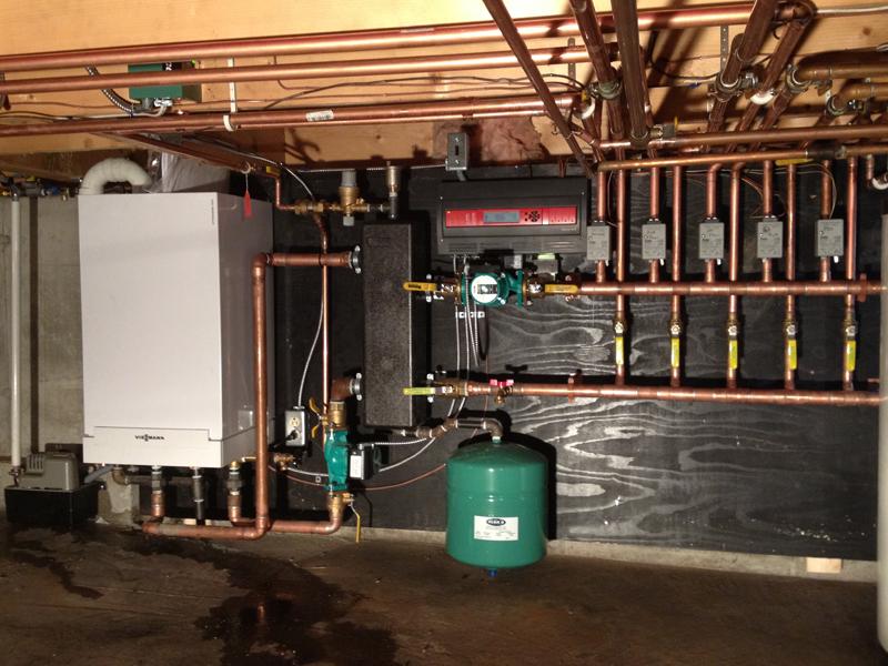 Viessmann Gas Fired boiler changeout 4 ft hdrm